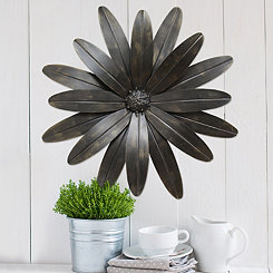 Industrial Flower Metal Wall Plaque