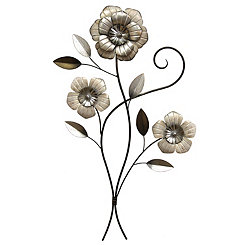 Simple Flower Metal Wall Plaque