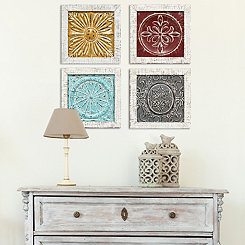 Accent Tile Wall Plaques, Set of 4