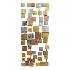 Geometric Tiles Metal Wall Plaque