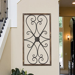 Scrolled Gate Panel Wall Plaque