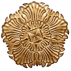Antique Gold Medallion Wall Plaque