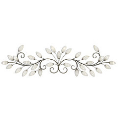 Brushed Pearl Vine Wall Plaque