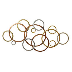Interlocking Circles Metal Wall Plaque