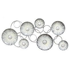 Oyster Mirrored Metal Wall Plaque