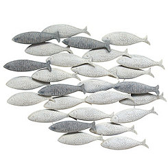 Gray School of Fish Wall Plaque