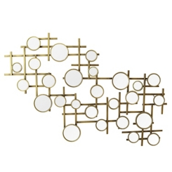 Gold Mirror Cluster Wall Plaque