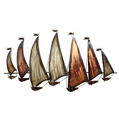 Sunset Sailboat Wall Plaque