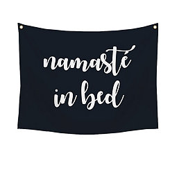 Namaste in Bed Wall Tapestry