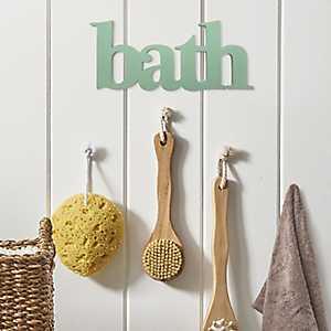 Seafoam Bath Wooden Wall Plaque
