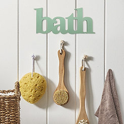 Seafoam Bath Wooden Wall Plaque