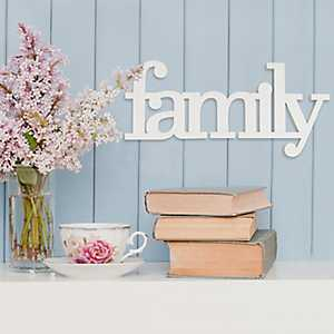 Family Wooden Typography Plaque