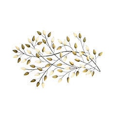 Blowing Leaves Metal Wall Plaque