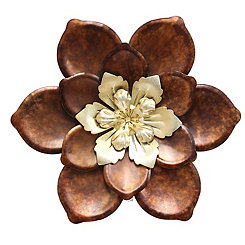 Whimsical Flower Metal Wall Plaque