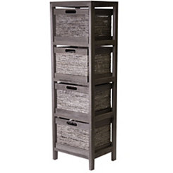 Gray Maize 4-Drawer Storage Chest