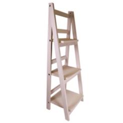 Natural Wood 3-Tier Foldable Shelf