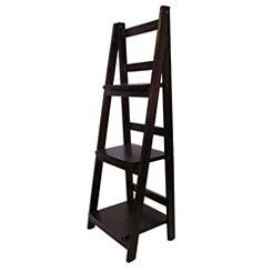 Espresso Wood 3-Tier Foldable Shelf