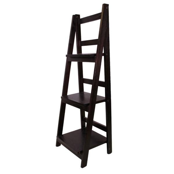 espresso wood 3tier foldable shelf