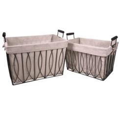 Ayan Metal Baskets, Set of 2