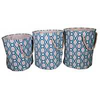 Key Lattice Laundry Hampers, Set of 3