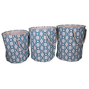 Key Lattice Laundry Hampers, Set of 3