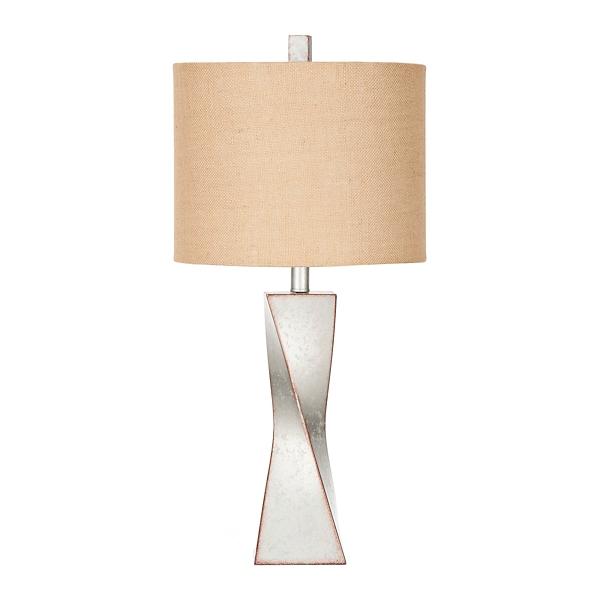 Antique Silver Wyatt Twist Table Lamp