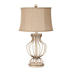 Isla Cream Metal Table Lamp