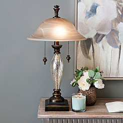 Prescott Mercury Glass Table Lamp