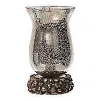 Coastal Silver Mercury Glass Uplight