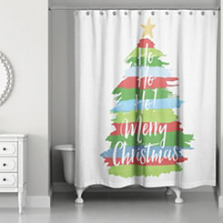 Merry Christmas Tree Shower Curtain