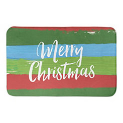 Merry Christmas Tree Bath Mat