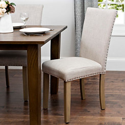 Oatmeal Linen Parsons Chair