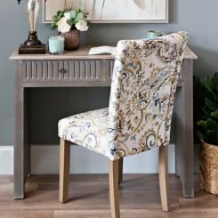 Paisley Watercolor Lagoon Parsons Chair