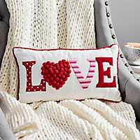 Love Pom-Pom Accent Pillow