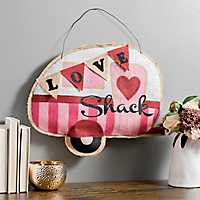 Burlap Love Shack Wall Hanger