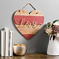 Wood Plank Love Heart Wall Hanger