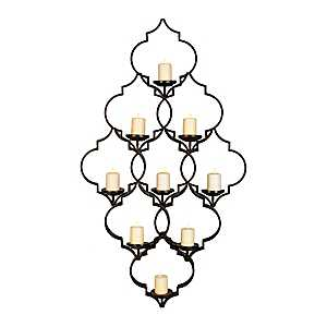 Quatrefoil Metal Wall Sconce