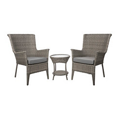Highlands Wicker Chairs and Table, Set of 3