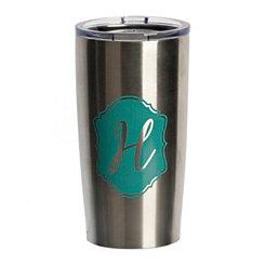 Turquoise Crest Monogram H Steel Tumbler