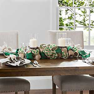 Burlap Tan and Green St. Patrick's Day Centerpiece