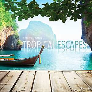 Tropical Escapes 2018 Wall Calendar