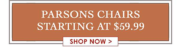Parsons Chairs Starting at $59.99 - Shop Now