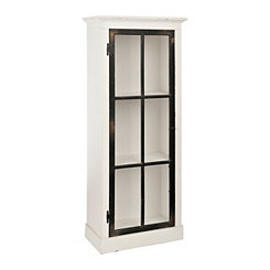 Emma Black and White Wood Cabinet