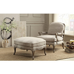 Weathered Gray Natural Accent Chair
