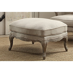 Weathered Gray Natural Ottoman