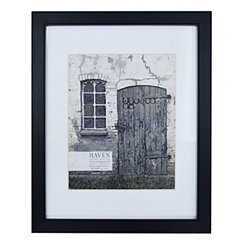 Distressed Black Wood Matted Picture Frame, 11x14