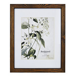 Espresso Stained Wood Matted Picture Frame, 11x14