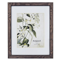 Graywashed Wood Matted Picture Frame, 11x14