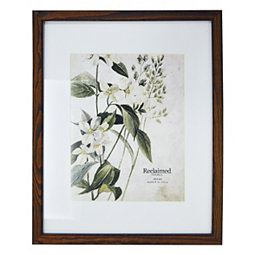 1cb85096684a Espresso Stained Wood Matted Picture Frame