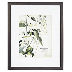 Graywashed Wood Matted Picture Frame, 16x20